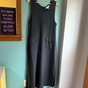 Dresses & Skirts - Vintage Waffle Knit Maxi Dress with Button Up Back
